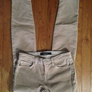 J BRAND Tan Corduroy Skinny Jeans Size 26 EUC